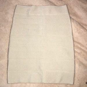 NWT- Bebe Cream Bandage Solid Skirt